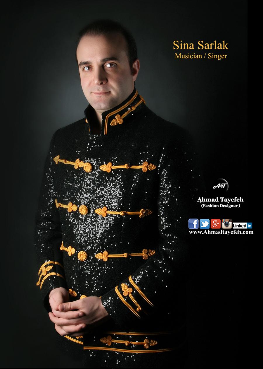دیزاین لباس کنسرت سینا سرلک